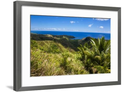 Outlook over Cetti River Valley in Guam, Us Territory, Central Pacific, Pacific-Michael Runkel-Framed Art Print
