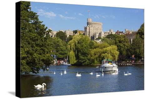 Windsor Castle and River Thames, Windsor, Berkshire, England, United Kingdom, Europe-Stuart Black-Stretched Canvas Print