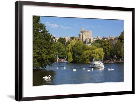 Windsor Castle and River Thames, Windsor, Berkshire, England, United Kingdom, Europe-Stuart Black-Framed Art Print