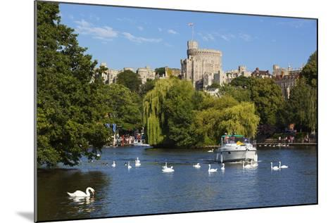 Windsor Castle and River Thames, Windsor, Berkshire, England, United Kingdom, Europe-Stuart Black-Mounted Photographic Print