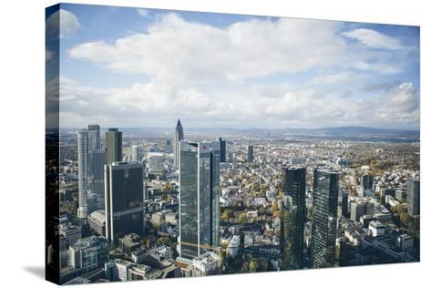 High Angle View of Financial Centre, Frankfurt-Am-Main, Hesse, Germany, Europe-Mark Doherty-Stretched Canvas Print