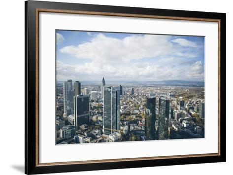 High Angle View of Financial Centre, Frankfurt-Am-Main, Hesse, Germany, Europe-Mark Doherty-Framed Art Print