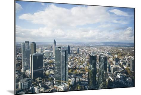 High Angle View of Financial Centre, Frankfurt-Am-Main, Hesse, Germany, Europe-Mark Doherty-Mounted Photographic Print