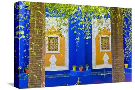 Majorelle Gardens (Gardens of Yves Saint-Laurent), Marrakech, Morocco, North Africa, Africa-Matthew Williams-Ellis-Stretched Canvas Print