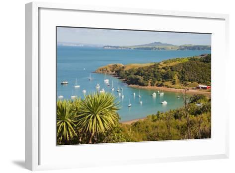 Sailing Boats on Waiheke Island, Auckland, North Island, New Zealand, Pacific-Matthew Williams-Ellis-Framed Art Print