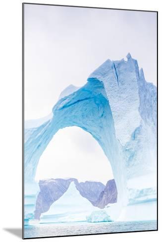 Grounded Icebergs, Sydkap, Scoresbysund, Northeast Greenland, Polar Regions-Michael Nolan-Mounted Photographic Print
