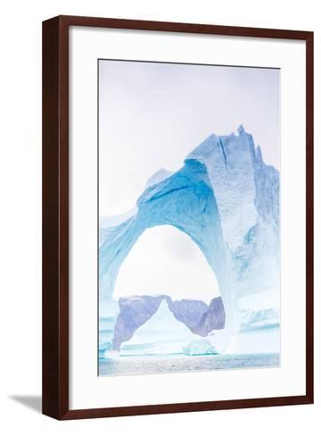Grounded Icebergs, Sydkap, Scoresbysund, Northeast Greenland, Polar Regions-Michael Nolan-Framed Art Print