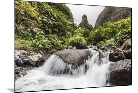 Waterfall in Iao Valley State Park, Maui, Hawaii, United States of America, Pacific-Michael Nolan-Mounted Photographic Print