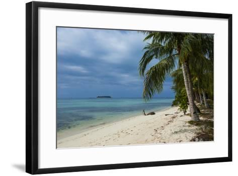Micro Beach on Garapan, Saipan, Northern Marianas, Central Pacific, Pacific-Michael Runkel-Framed Art Print
