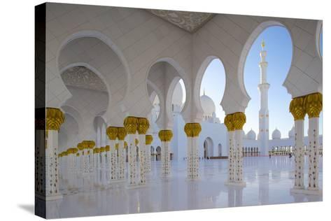 Sheikh Zayed Bin Sultan Al Nahyan Mosque, Abu Dhabi, United Arab Emirates, Middle East-Frank Fell-Stretched Canvas Print