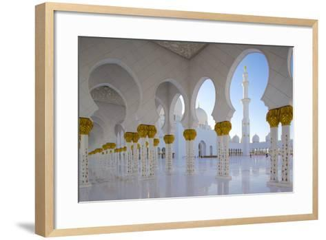 Sheikh Zayed Bin Sultan Al Nahyan Mosque, Abu Dhabi, United Arab Emirates, Middle East-Frank Fell-Framed Art Print