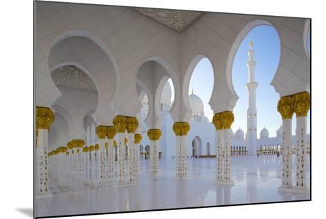 Sheikh Zayed Bin Sultan Al Nahyan Mosque, Abu Dhabi, United Arab Emirates, Middle East-Frank Fell-Mounted Photographic Print