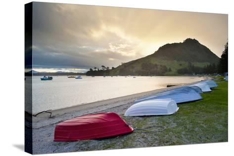 Boats at Mount Maunganui at Sunset, Tauranga, North Island, New Zealand, Pacific-Matthew Williams-Ellis-Stretched Canvas Print