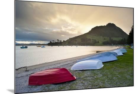 Boats at Mount Maunganui at Sunset, Tauranga, North Island, New Zealand, Pacific-Matthew Williams-Ellis-Mounted Photographic Print