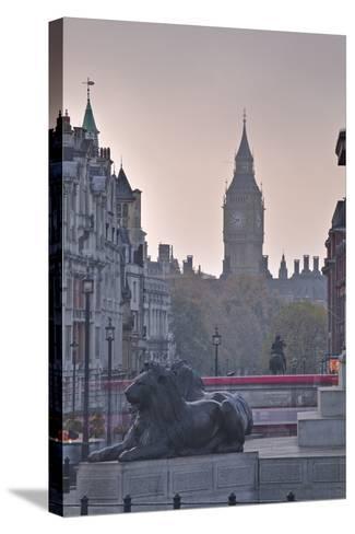 Trafalgar Square and Big Ben at Dawn, London, England, United Kingdom, Europe-Julian Elliott-Stretched Canvas Print