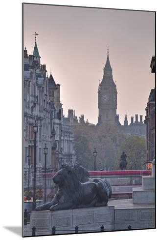 Trafalgar Square and Big Ben at Dawn, London, England, United Kingdom, Europe-Julian Elliott-Mounted Photographic Print