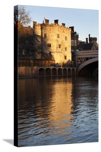 Lendal Tower and the River Ouse at Sunset, York, Yorkshire, England, United Kingdom, Europe-Mark Sunderland-Stretched Canvas Print