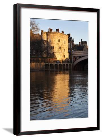Lendal Tower and the River Ouse at Sunset, York, Yorkshire, England, United Kingdom, Europe-Mark Sunderland-Framed Art Print
