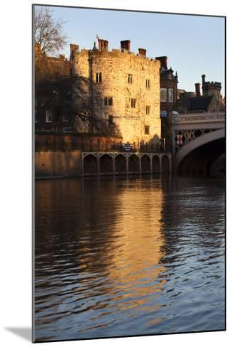 Lendal Tower and the River Ouse at Sunset, York, Yorkshire, England, United Kingdom, Europe-Mark Sunderland-Mounted Photographic Print