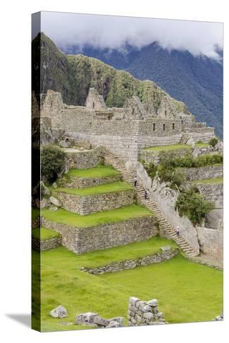 Machu Picchu, UNESCO World Heritage Site, Near Aguas Calientes, Peru, South America-Michael DeFreitas-Stretched Canvas Print