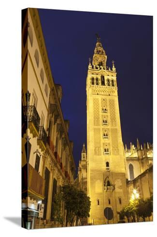The Giralda at Night, UNESCO World Heritage Site, Seville, Andalucia, Spain, Europe-Stuart Black-Stretched Canvas Print