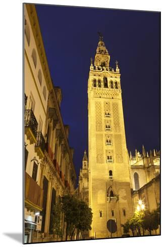 The Giralda at Night, UNESCO World Heritage Site, Seville, Andalucia, Spain, Europe-Stuart Black-Mounted Photographic Print