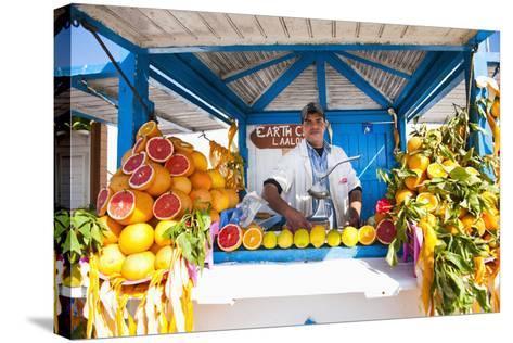 Fresh Orange Juice Vendor, Essaouira, Formerly Mogador, Morocco, North Africa, Africa-Matthew Williams-Ellis-Stretched Canvas Print