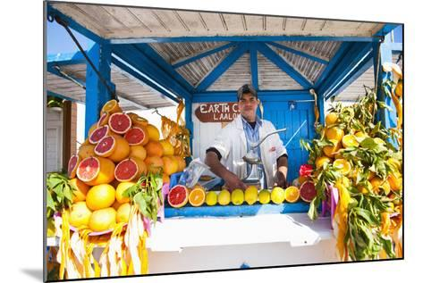 Fresh Orange Juice Vendor, Essaouira, Formerly Mogador, Morocco, North Africa, Africa-Matthew Williams-Ellis-Mounted Photographic Print