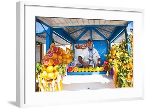 Fresh Orange Juice Vendor, Essaouira, Formerly Mogador, Morocco, North Africa, Africa-Matthew Williams-Ellis-Framed Art Print