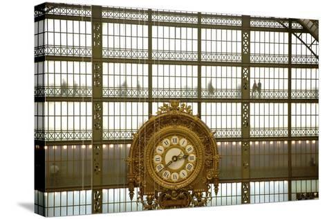 Musee D'Orsay Clock, Paris, France, Europe-Neil Farrin-Stretched Canvas Print