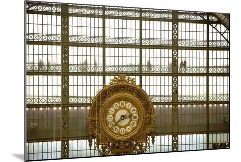 Musee D'Orsay Clock, Paris, France, Europe-Neil Farrin-Mounted Photographic Print