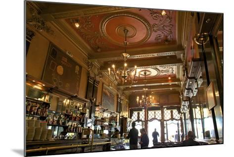 Interior of Cafe Brasileira, Chiado, Lisbon, Portugal, South West Europe-Neil Farrin-Mounted Photographic Print