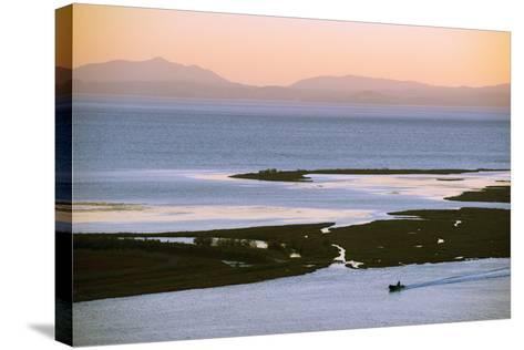 Butrint and Corfu Island in Distance, Albania, Mediterranean, Europe-Christian Kober-Stretched Canvas Print