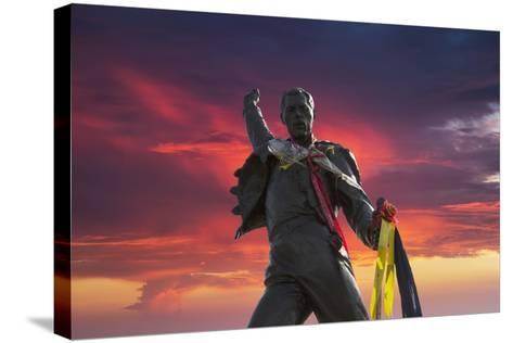 Statue of Freddy Mercury, Montreux, Canton Vaud, Switzerland, Europe-Angelo Cavalli-Stretched Canvas Print