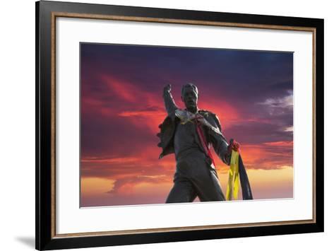 Statue of Freddy Mercury, Montreux, Canton Vaud, Switzerland, Europe-Angelo Cavalli-Framed Art Print