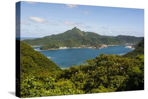 The Pago Pago Harbour, Tutuila Island, American Samoa, South Pacific-Michael Runkel-Stretched Canvas Print