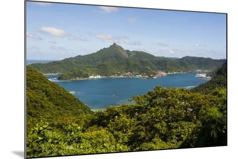 The Pago Pago Harbour, Tutuila Island, American Samoa, South Pacific-Michael Runkel-Mounted Photographic Print