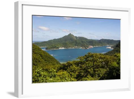 The Pago Pago Harbour, Tutuila Island, American Samoa, South Pacific-Michael Runkel-Framed Art Print