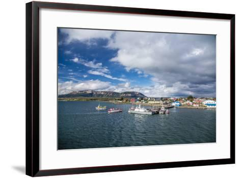 The Harbour Town of Puerto Natales, Patagonia, Chile, South America-Michael Nolan-Framed Art Print