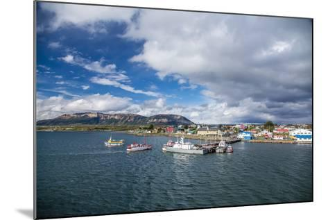 The Harbour Town of Puerto Natales, Patagonia, Chile, South America-Michael Nolan-Mounted Photographic Print
