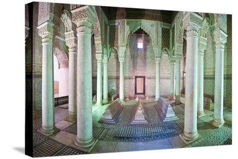Interior of the Saadien Tombs, Marrakech, Morocco, North Africa, Africa-Matthew Williams-Ellis-Stretched Canvas Print
