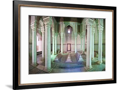 Interior of the Saadien Tombs, Marrakech, Morocco, North Africa, Africa-Matthew Williams-Ellis-Framed Art Print