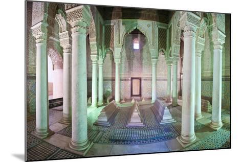 Interior of the Saadien Tombs, Marrakech, Morocco, North Africa, Africa-Matthew Williams-Ellis-Mounted Photographic Print