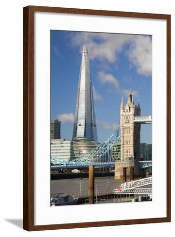 The Shard and Tower Bridge, London, England, United Kingdom, Europe-Miles Ertman-Framed Art Print