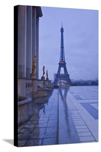 The Eiffel Tower under Rain Clouds, Paris, France, Europe-Julian Elliott-Stretched Canvas Print