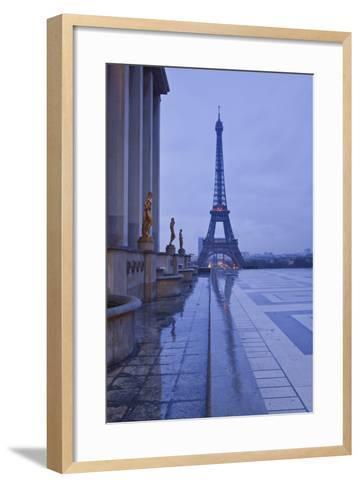 The Eiffel Tower under Rain Clouds, Paris, France, Europe-Julian Elliott-Framed Art Print