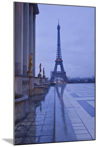 The Eiffel Tower under Rain Clouds, Paris, France, Europe-Julian Elliott-Mounted Photographic Print