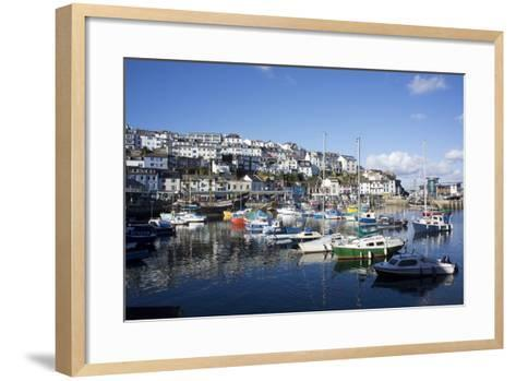 Harbour, Brixham, Devon, England, United Kingdom-Peter Groenendijk-Framed Art Print