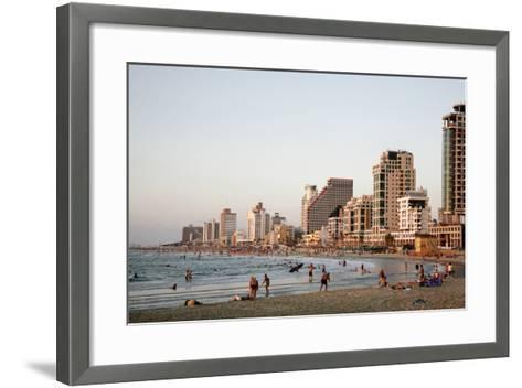 Beach, Tel Aviv, Israel, Middle East-Yadid Levy-Framed Art Print
