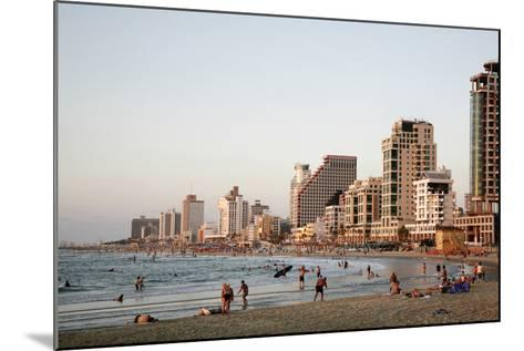 Beach, Tel Aviv, Israel, Middle East-Yadid Levy-Mounted Photographic Print